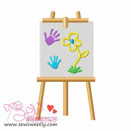 Little Artist-3 Machine Embroidery Design For Kids