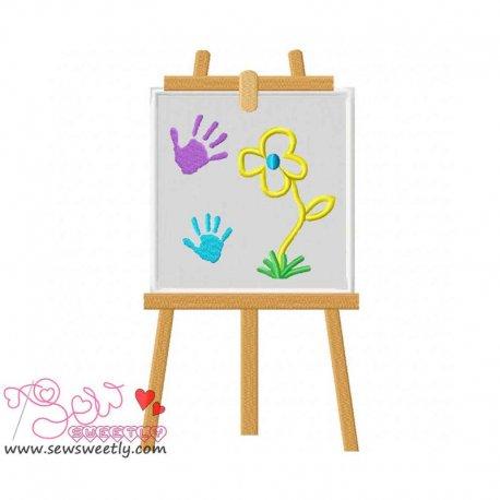 Little Artist-3 Machine Applique Design For Kids And Babies