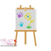 Little Artist-3 Applique Design