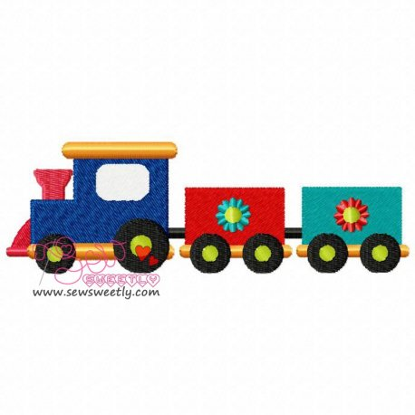 Toy Train-1 Machine Embroidery Design For Kids