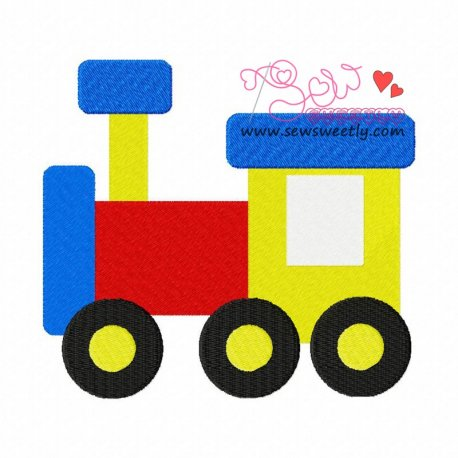 Toy Train-2 Machine Embroidery Design For Kids