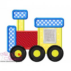 Toy Train-2 Applique Design