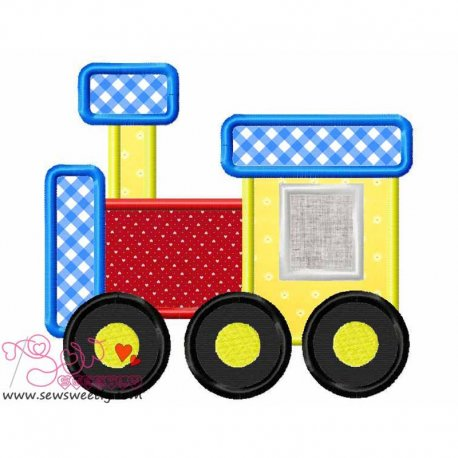 Toy Train-2 Machine Applique Design For Kids And Babies
