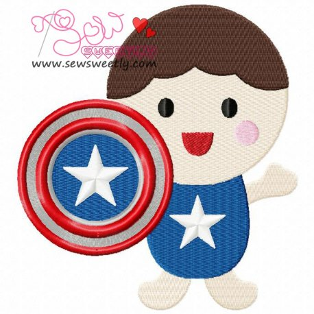Superhero Baby Boy-2 Machine Embroidery Design For Kids