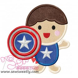 Superhero Baby Boy-2 Applique Design