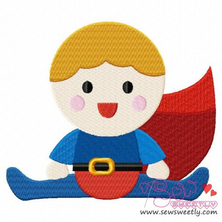 Superhero Baby Boy-1 Machine Embroidery Design For Kids