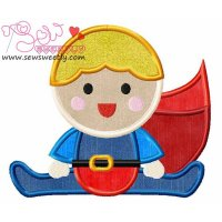Superhero Baby Boy-1 Applique Design
