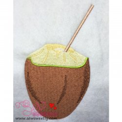 Coconut Embroidery Design