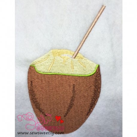 Coconut Embroidery Design