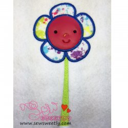 Wonderland Flower Applique Design
