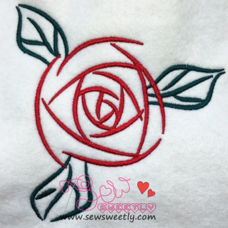 Red Rose Machine Embroidery Design, Best For Pillows And Bed sheets