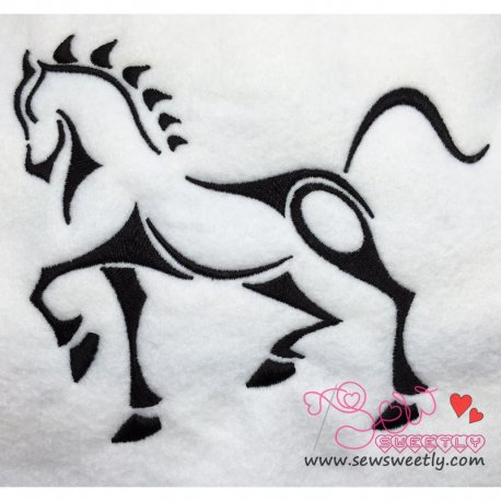 Horse-2 Embroidery Design