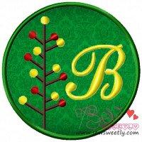 Christmas Font Letter-B