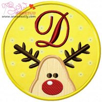 Christmas Font Letter-D