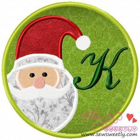 Christmas Font Letter-K Machine Applique Design For Kids And Christmas