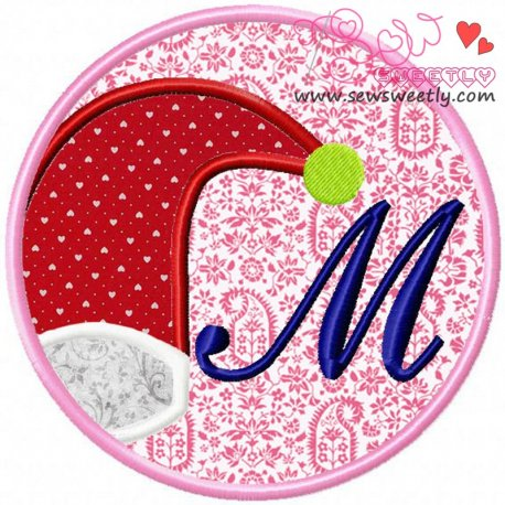 Christmas Font Letter-M Machine Applique Design For Kids And Christmas