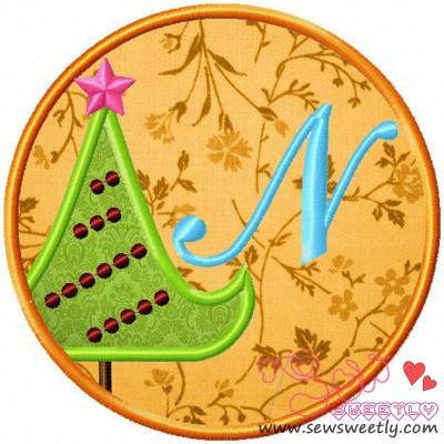 Christmas Font Letter-N