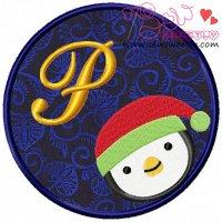 Christmas Font Letter-P
