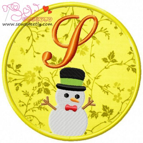 Christmas Font Letter-S Machine Applique Design For Kids And Christmas