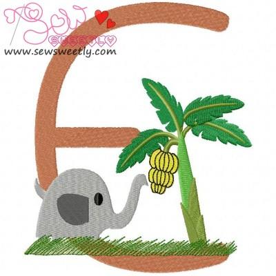 Animal Letter-E- Elephant