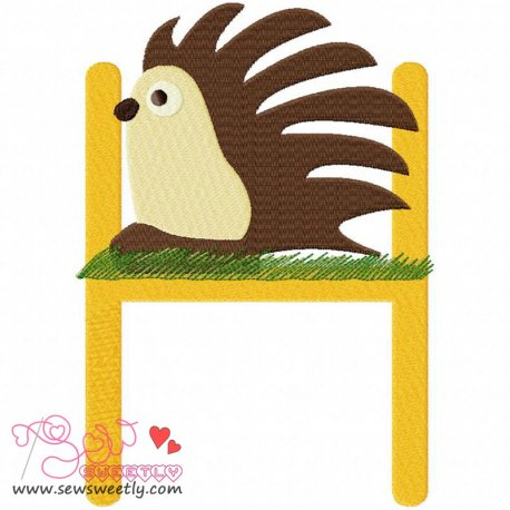 Animal Letter-H- Hedgehog Machine Embroidery Design For Kids