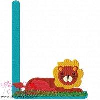Animal Letter-L- Lion