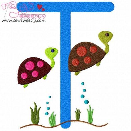 Animal Letter-T- Turtle Pattern- Category- Single Alphabets- 1