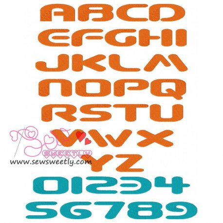 Beware Embroidery Font Set Pattern- Category- Embroidery Fonts- 1