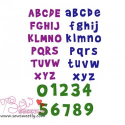 Brady Bunch Embroidery Font Set