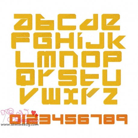 Divlit Embroidery Font Set Machine Embroidery Design Including All Alphabets And Numbers.