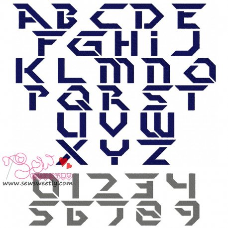 Perfect Dark Embroidery Font Set Machine Embroidery Design Including All Alphabets And Numbers