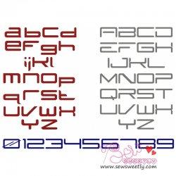 SubZero Embroidery Font Set