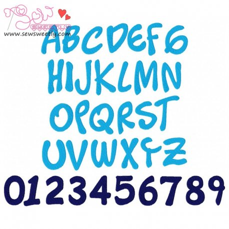 Timotheos Embroidery Font Set Machine Embroidery Design Including All Alphabets And Numbers.
