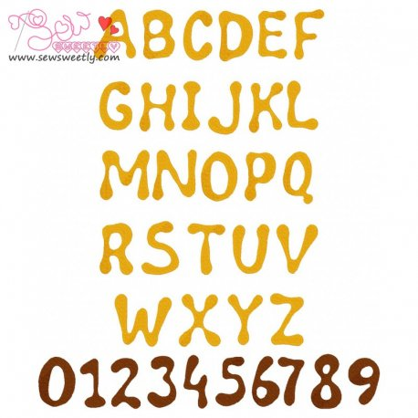 Wild Honey Embroidery Font Set Machine Embroidery Design Including All Alphabets And Numbers.