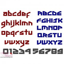 Ginga Inter Embroidery Font Set