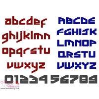 Ginga Inter Embroidery Font Set