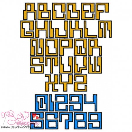 Computerized Embroidery Font Set Pattern- Category- Embroidery Fonts- 1