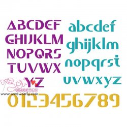 Saber Embroidery Font Set Machine Embroidery Design Including All Alphabets And Numbers.