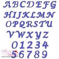 Cross Stitch Embroidery Font Set