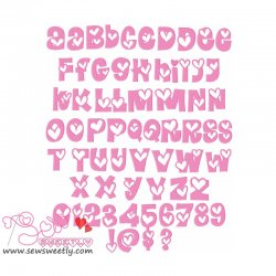 Sweet Valentine Embroidery Font Set Machine Embroidery Design Including All Alphabets And Numbers.