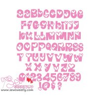 Sweet Valentine Embroidery Font Set
