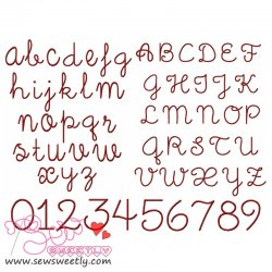 Little days Embroidery Font Set