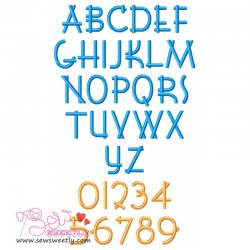 Font Shui Embroidery Font Set Machine Embroidery Design Including All Alphabets And Numbers.