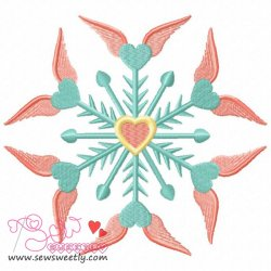 Angel Snowflake Embroidery Design
