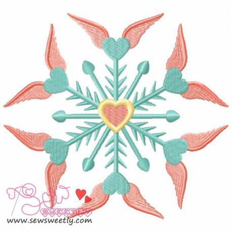 Beautiful Angel Snowflake Machine Embroidery Design