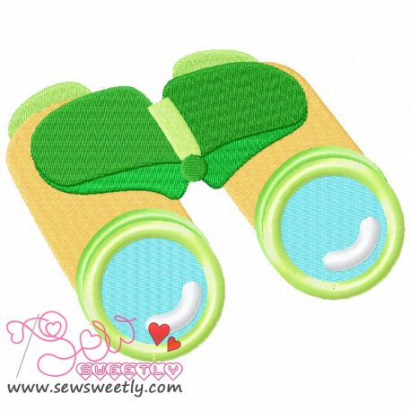 Binocular Machine Embroidery Design For Camping Projects