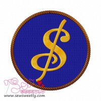 Dollar Sign Embroidery Design