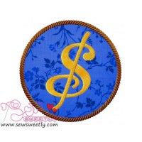 Dollar Sign Applique Design