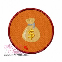 Money Bag Embroidery Design