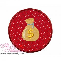 Money Bag Applique Design